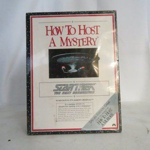 VTG 1992 Star Trek TNG How to Host a Mystery Game